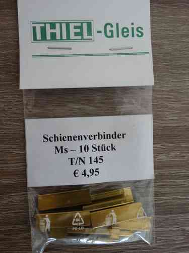 Thiel 145 10 Stk. Schienenverbinder Messing
