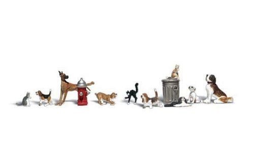 "N Woodland Scenics A2140 Figuren-Set ""Dogs & Cats"""