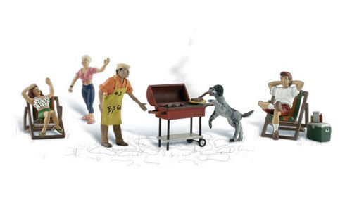 0 Woodland Scenics A2765 Figuren-Set BBQ Grillparty