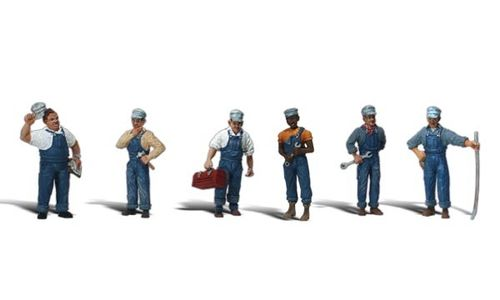 "0 Woodland Scenics A2721 Figuren-Set ""Train Mechanics"""""