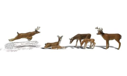 "0 Woodland Scenics A2738 Figuren-Set ""Deer"" Rehe"